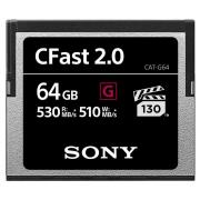 """Карта памяти Sony CAT-G64 CFast 2.0 Memory Card 64GB (серия """"G"""", скорость чтения до 530 МБ/сек, скорость записи до 510 МБ/сек)"""