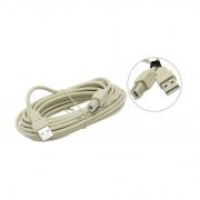 Кабель 5BITES USB2.0 кабель A (male) - B (male), длина 5,0 м