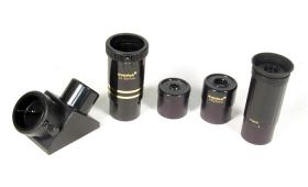 Аксессуары телескопа: окуляры телескопа, переменный окуляр телескопа, линза Барлоу, диагональное зеркало