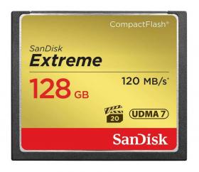 Карта памяти Sandisk Compact Flash Card 128GB Extreme