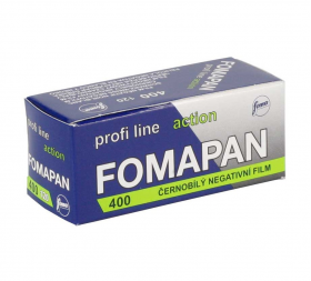 Fomapan 400-120 Profi Line Action (черно-белая негативная пленка, для ручной проявки, 8 кадров 6х9см, 12 кадров 6х6см, 16 кадров 4,5х6см, чувствительность ISO 400)