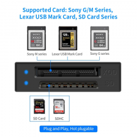 Кард-ридер Rocketek XQD/SD Card Reader-3
