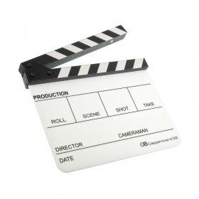 Кинохлопушка GreenBean Clapperboard 03 (белая)