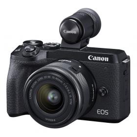 Беззеркальная фотокамера Canon EOS M6 Mark II Kit EF-M 15-45mm F3.5-6.3 IS STM + EVF-3
