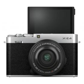 Беззеркальная фотокамера Fujifilm X-E4 Kit Fujinon XF 27mm F2.8 R WR (silver)-3