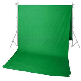 Field Green 3.0x7.0 (тканевый бесшовный фон, размер 3.0х7.0 м, одноцветный, цвет зеленый, хромакей) Система установки в комплект не входит.