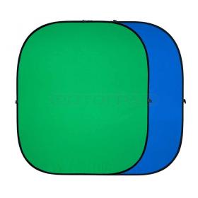 Twist Blue/Green 2.4x2.4 (складной на пружине, размер 2.4х2.4 м, двусторонний, цвет синий/зеленый, хромакей)