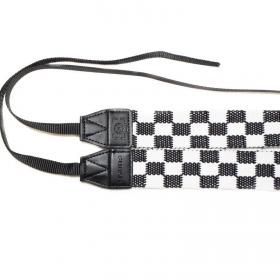 Ремень Fujimi LC-018 (наплечный трикотажный ремень, черно-белый клетчатый)