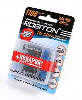 AAA 1100mAh Ni-MH 1.2V (ЦЕНА ЗА КОМПЛЕКТ: 4 аккумулятора + пластиковый кейс!)