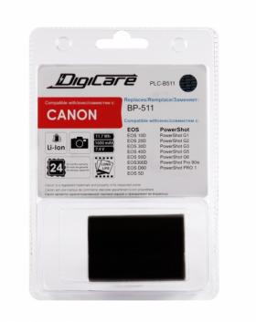 PLC-B511 (Li-Ion/7.4V/1600mAh) (аналог Canon BP-511) (совместимость: Canon BP-511/BP-511A/BP-512/BP-514)