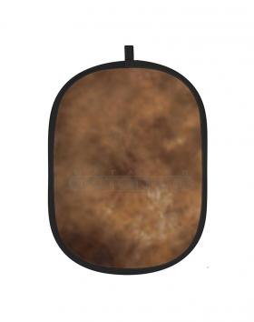 """RB-4066 BC-019 (тканевый складной фон на каркасе,размер 40х66"""" (102х168 см), многоцветный, цвет BC-019 пятнистый песочно-коричневый с разводами)"""