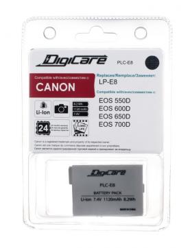 PLC-E8 (Li-Ion/7.4V/1120mAh) (аналог Canon LP-E8) (совместимость: Canon LP-E8)