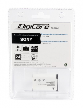 PLS-BX1 (Li-Ion/3.6V/1155mAh) (аналог Sony NP-BX1) (совместимость: Sony NP-BX1)