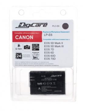 PLC-E6 (Li-Ion/7.4V/1780mAh) (аналог Canon LP-E6) (совместимость: Canon LP-E6/LP-E6N)