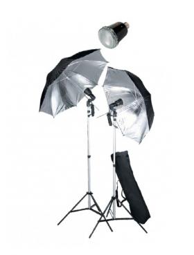 FAN028 (комплект света: вспышка SF-45M (45Дж) - 2шт., стойка FAN803 (до 200см) - 2шт., зонт UR02 на отражение - 2шт., патрон LH-27SU - 2шт., сумка FAN642 - 1шт.)