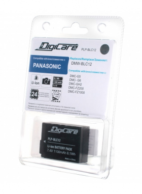 PLP-BLC12 (Li-Ion/7.4V/1100mAh) (аналог Panasonic DMW-BLC12) (совместимость: Panasonic DMW-BLC12)