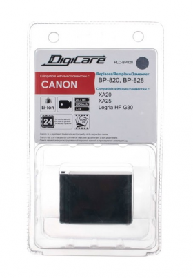 PLC-BP828 (Li-Ion/7.4V/2800mAh) (аналог Canon BP-828) (совместимость: Canon BP-808/BP-820/BP-828)